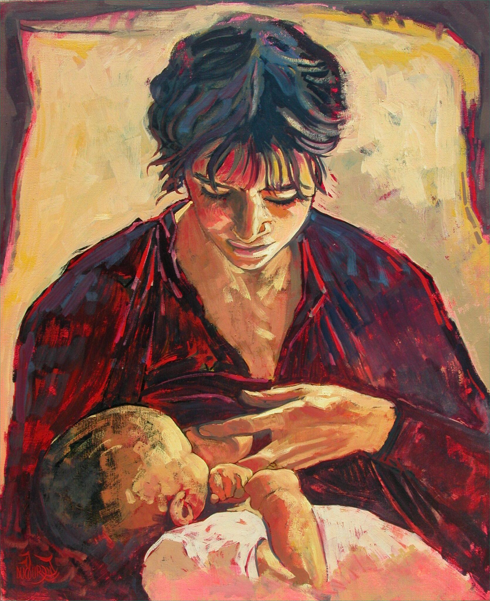 Maternité - 73x60cm - 2006