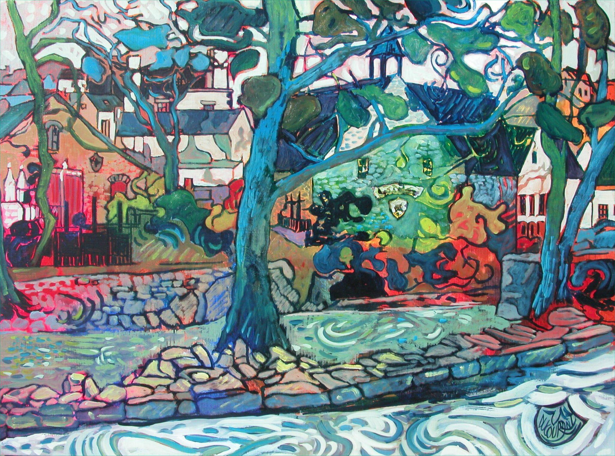 Roz Madec sur Aven - 81x60cm - 2008