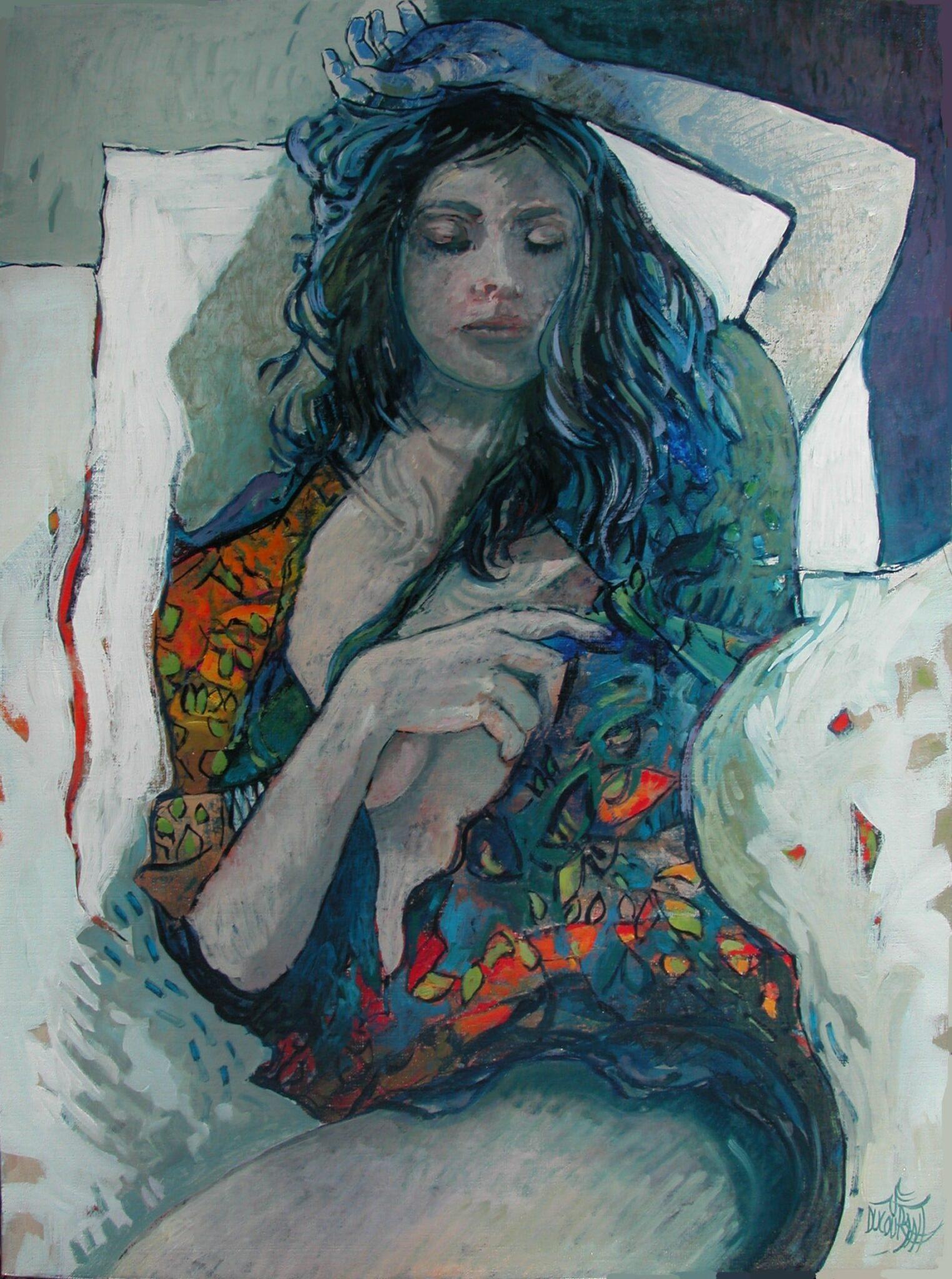 La main bleue des rêves - 81x60cm