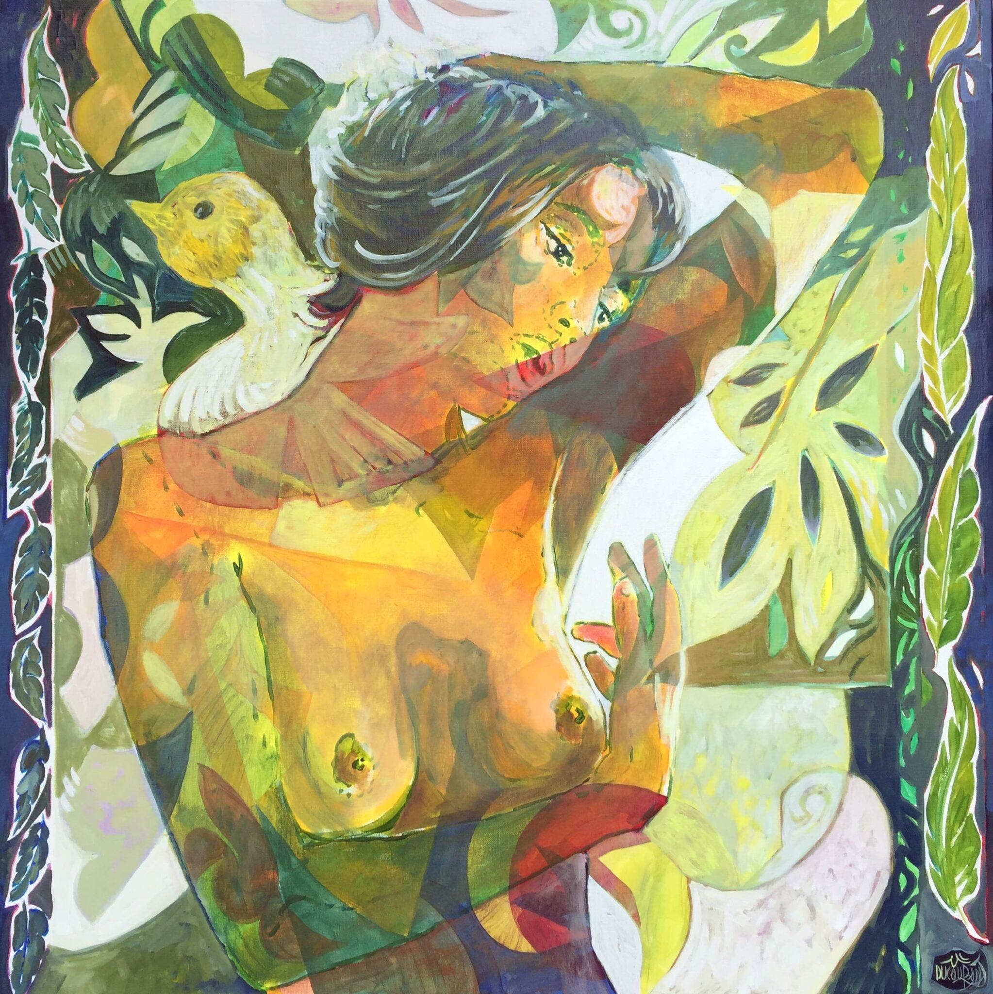 Les fantaisies de Clara Schumann - 80x80cm