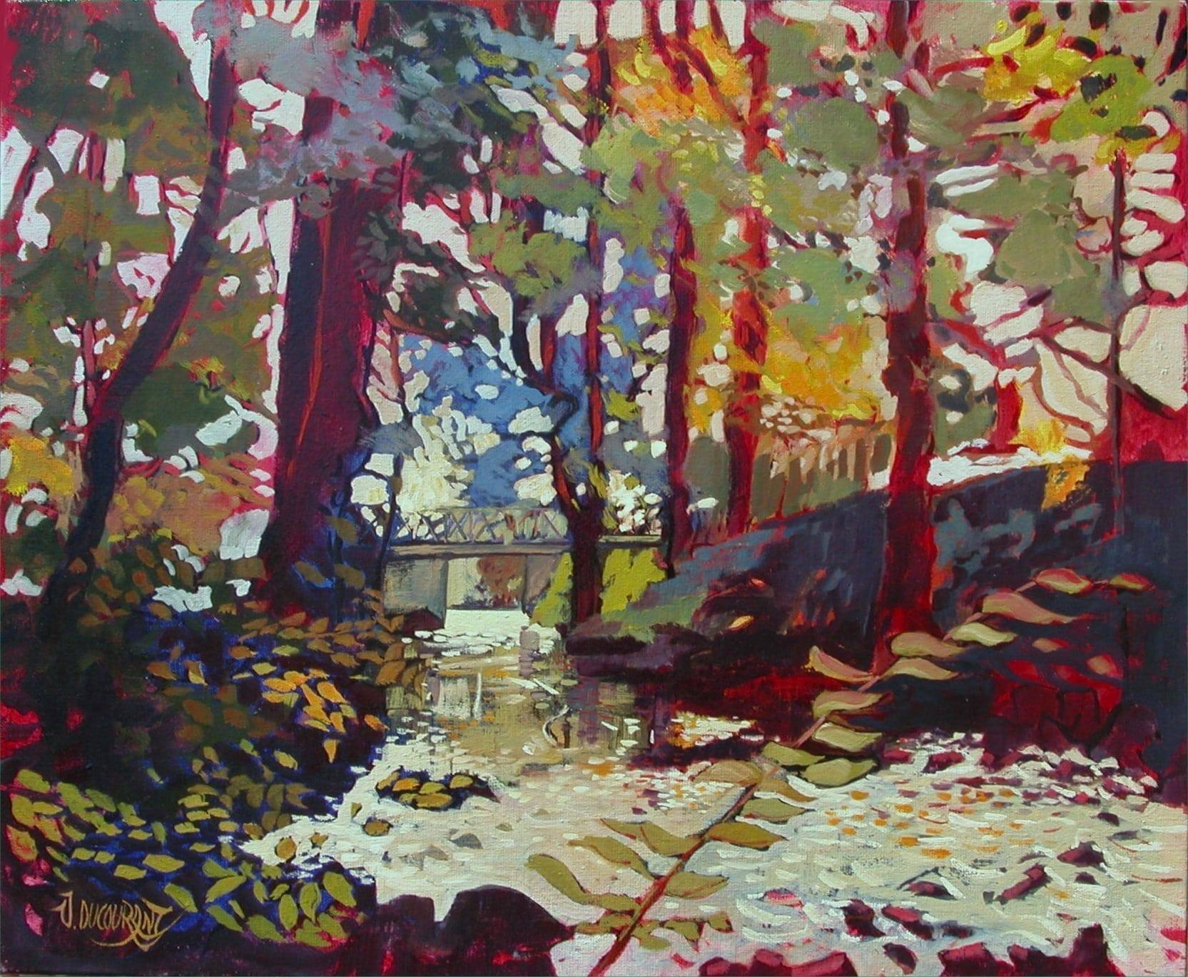 Le Bois d'Amour à Pont-Aven - 73x60cm - 2006