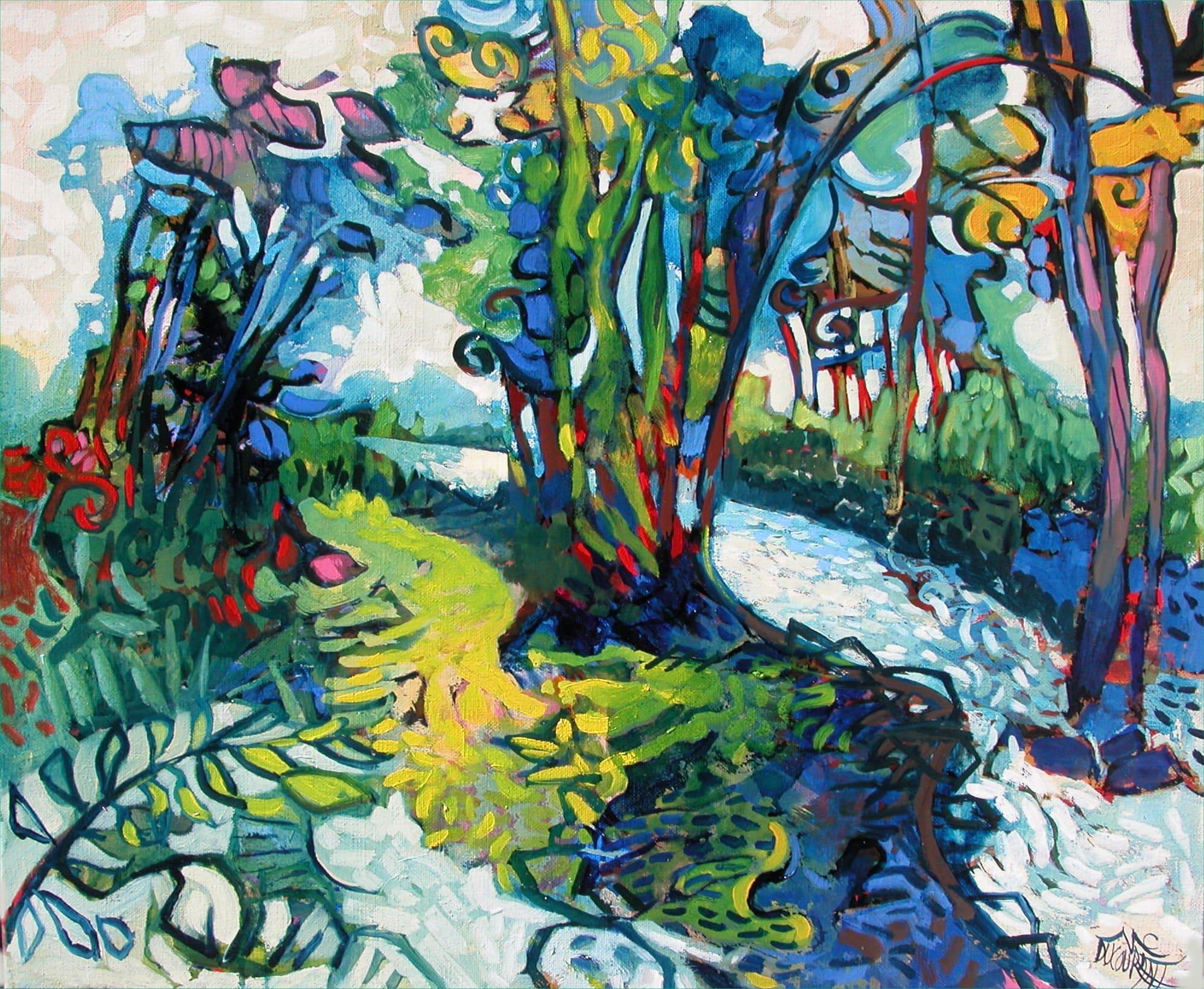 Le Bois d'Amour et d'eau fraîche - 61x50cm