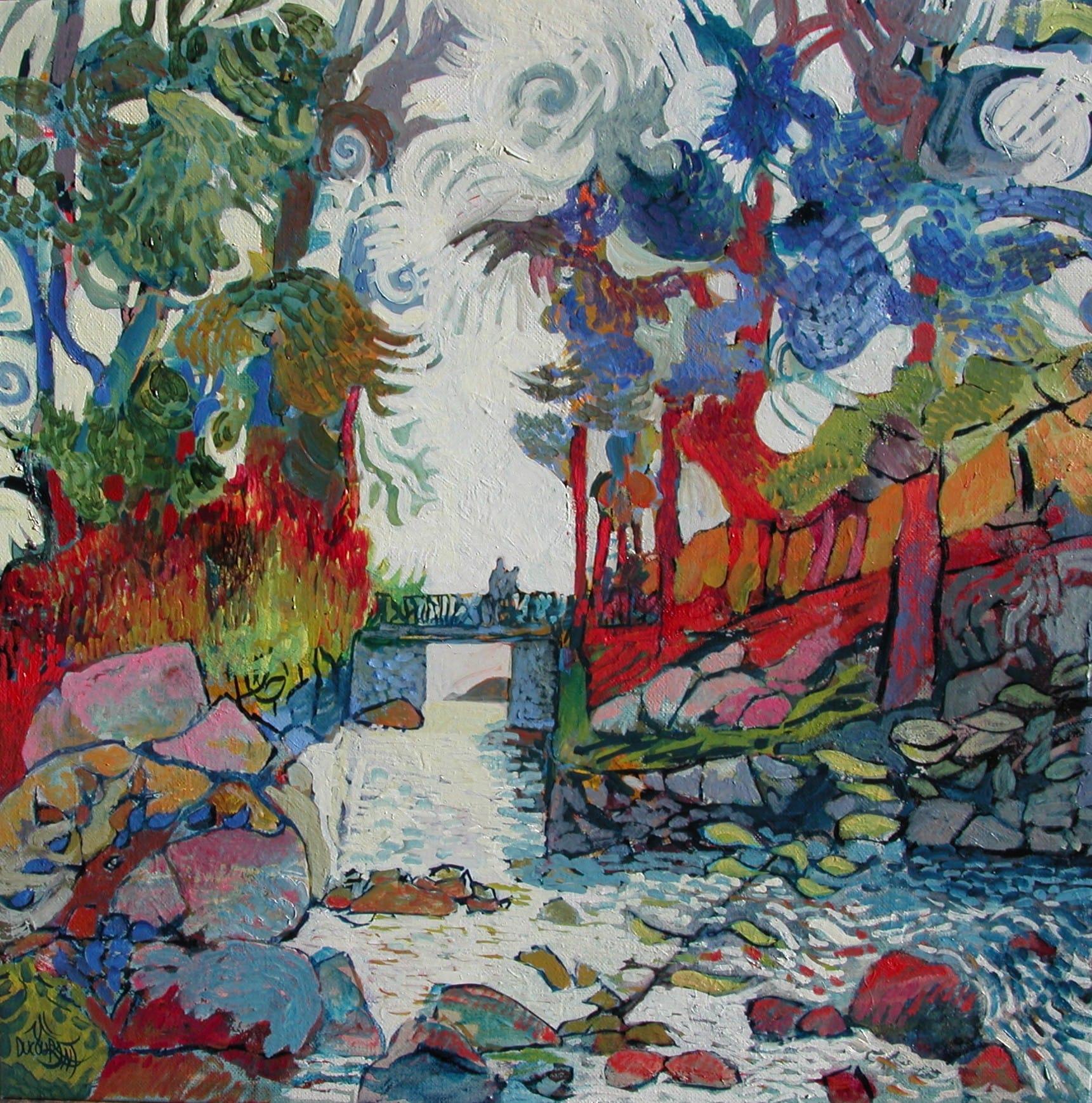 Le Bois d'Amour fait le lit de l'Aven - 50x50 cm - 2013
