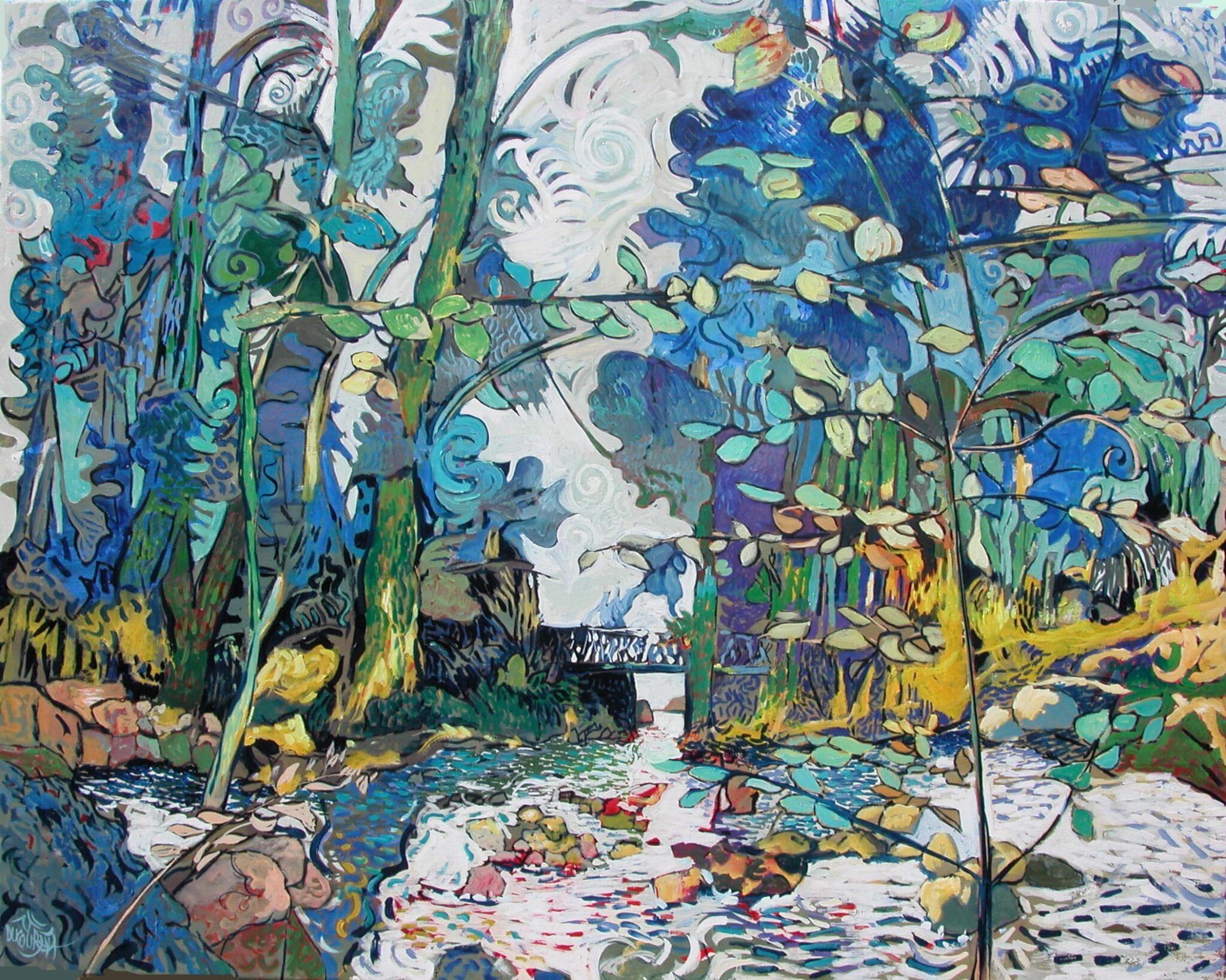 Le Bois d'Amour, temple de l'Aven - 92x73cm - 2013