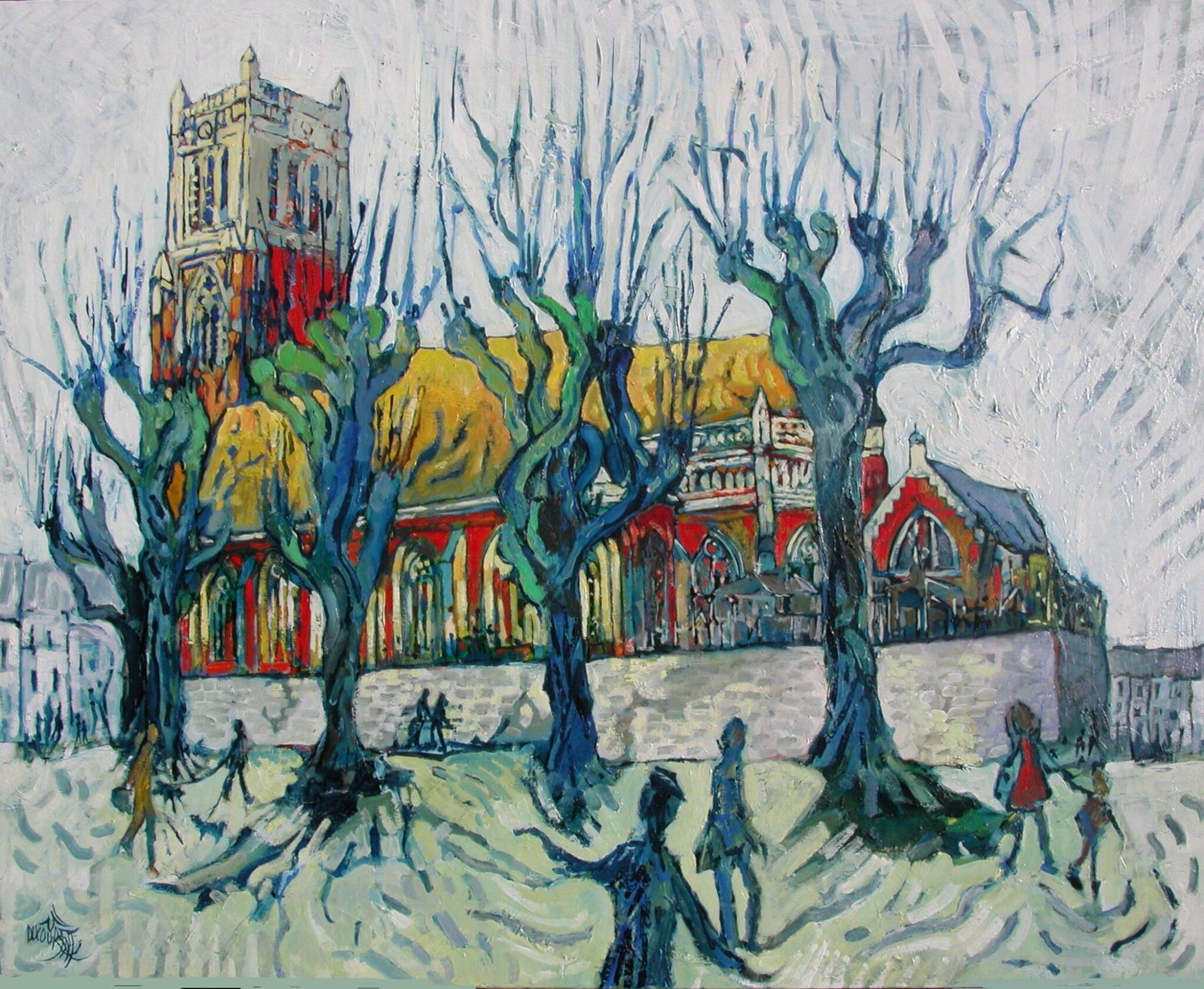 Les amoureux de St-Waast-sur-la-Lys - 81x65cm