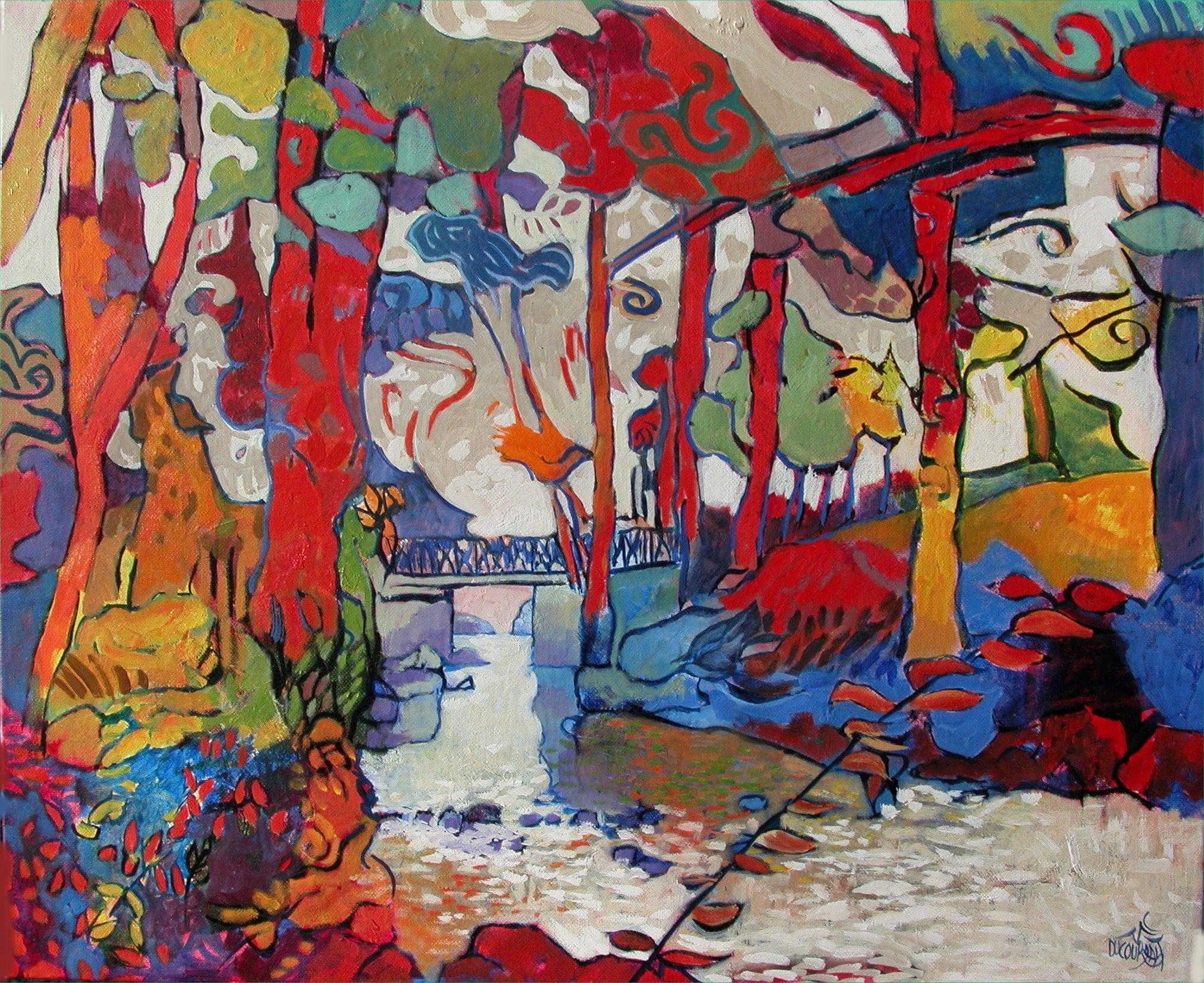 L'orchestre fauve du Bois d'Amour - 61x50cm - 2012